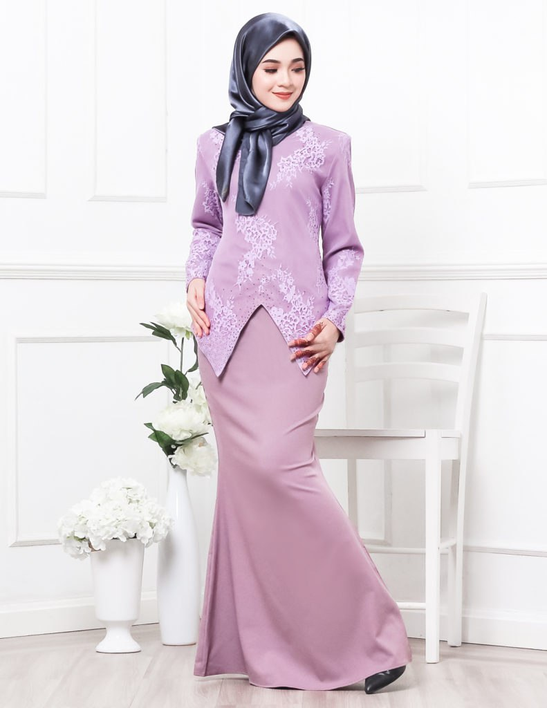 Baju Kurung Warna Purple